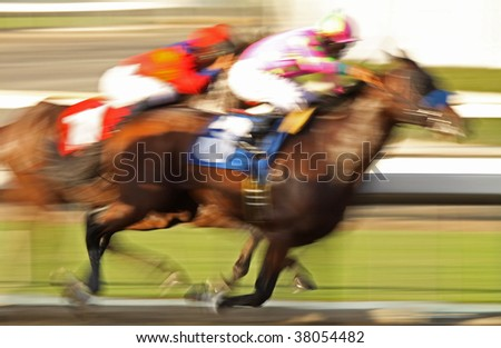 Abstract Horse Race