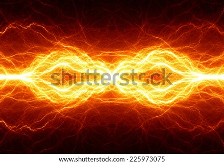 Abstract hot fire lightning - stock photo
