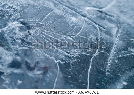 Abstract ice background closeup with selective focus - stock photo