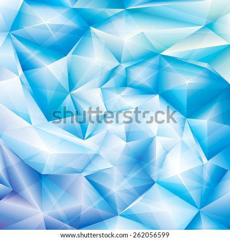 Abstract ice blue crystal spiral background. - stock photo