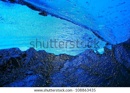 Abstract Ice Cave - stock photo