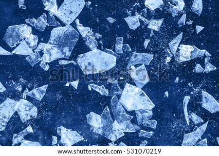 Abstract ice debris background