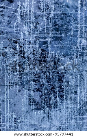 abstract Ice texture Winter background - stock photo