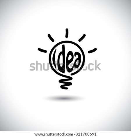 abstract idea bulb glowing - concept graphic icon. This graphic also represents creative problem solving, genius mind, smart thinking, inventive mind, innovative man, abstract thought - stock photo