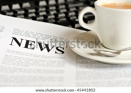Abstract idea for reading the news - stock photo