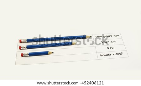 Abstract idea using black pencils. Isolated on white background.