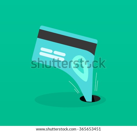 Abstract identity theft, money outflow, fraud theft protection, phishing, leakage information, economic crisis poster, financial bankruptcy flat icon modern design, illustration isolated image - stock photo