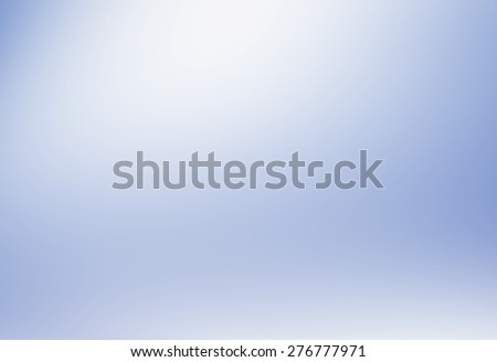 Abstract illustration background texture of beautiful light clear blue, cold gray, snowy white gradient flat wall and floor in empty spacious room interior - stock photo