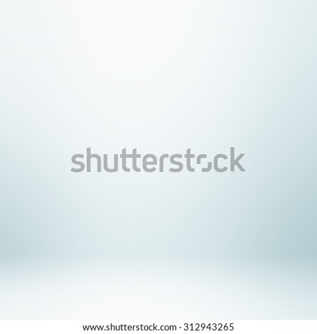 Abstract illustration background texture of dark and light clear blue, gray, white gradient flat wall and floor in empty spacious room interior - stock photo
