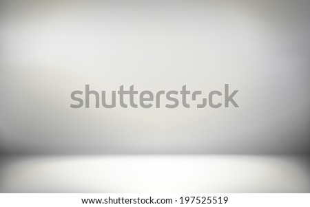 abstract illustration background texture of gray wall, flat floor in empty room. - stock photo