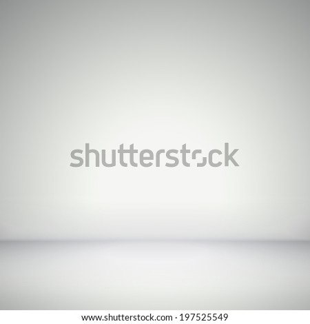 abstract illustration background texture of light gray wall, flat floor in empty room. - stock photo