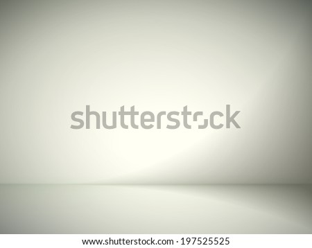 abstract illustration background texture of yellow and gray gradient wall, flat floor in empty room. - stock photo