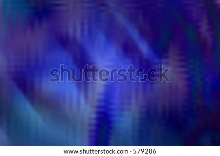 abstract illustration depicting the aurora borealis - stock photo