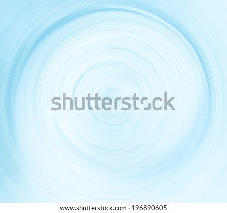 Abstract illustration metal background texture of illuminated and spacious futuristic hole. Perspective wide angle view to modern light blue fast blur trail of round lines in vanishing traffic motion. - stock photo