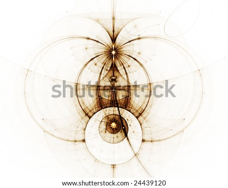 Abstract illustration of ancient nautical chart - stock photo