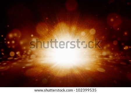 Abstract illustration of big fiery explosion
