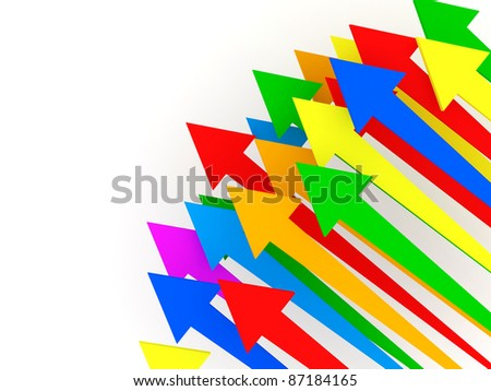 Abstract Illustration of Colorful Arrows with place for your text