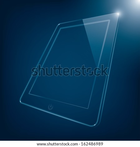 abstract illustration of computer tablet. (rasterized version) - stock photo