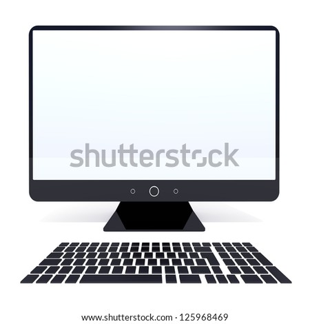 Abstract illustration of electronic devices isolated on white - stock photo
