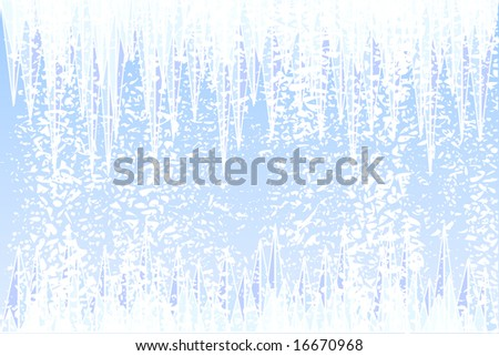 Abstract illustration of ice and snow - stock photo