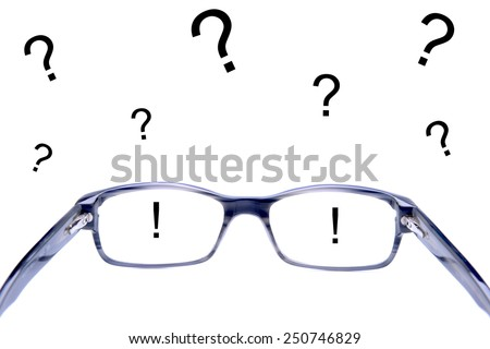abstract illustration of  improving vision - stock photo