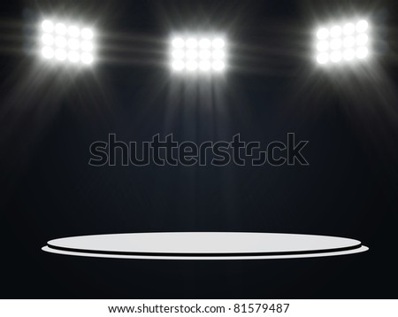 Abstract Illustration of Stage Spotlight - stock photo