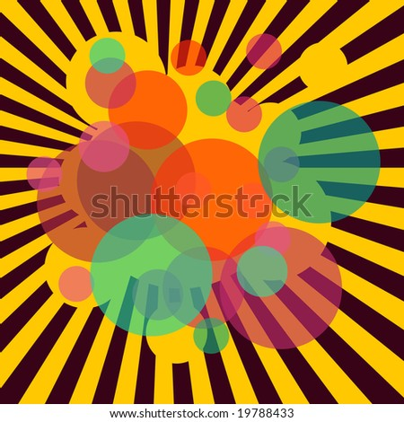 Abstract illustration of stripes and circles