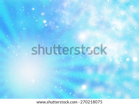 Abstract illustration of universe or cosmos. - stock photo