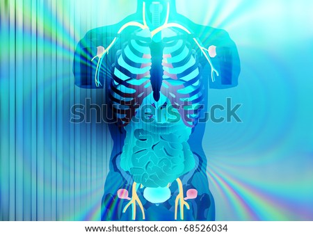 Abstract illustration of X-ray vision - stock photo