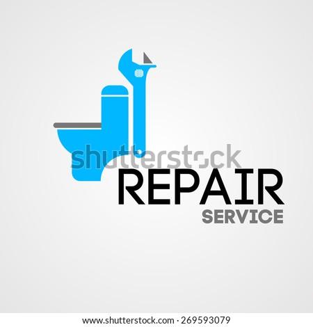abstract  illustration repair service  - stock photo