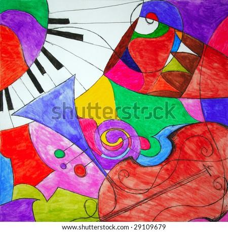 abstract illustration wallpaper - stock photo