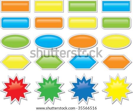abstract illustration web color icon - stock photo