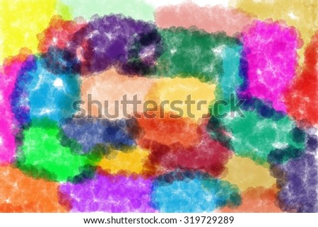 Abstract image for your design or background. Colored clouds.