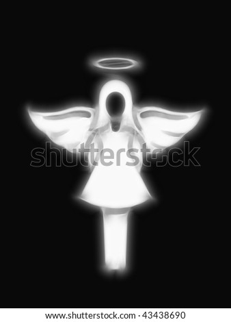 Abstract image of a stylised heavenly angel - stock photo