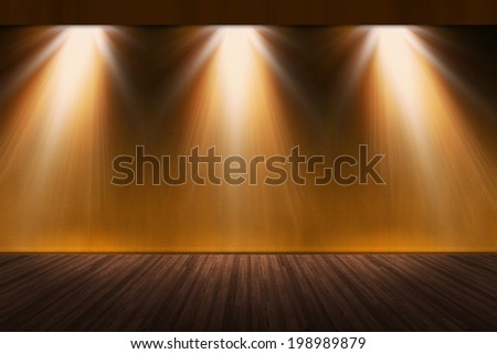 Abstract image of art exhibitions lighting. - stock photo