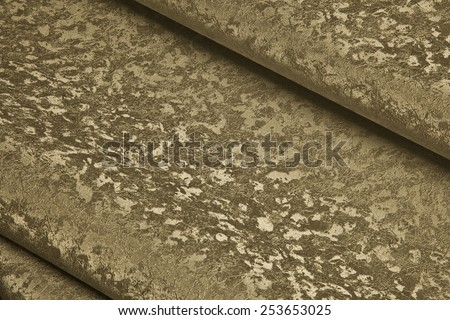 Abstract image of blue beige rolls - stock photo