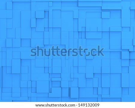 abstract image of blue cubes background