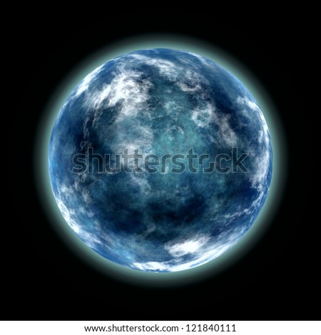 abstract image of blue planet - stock photo