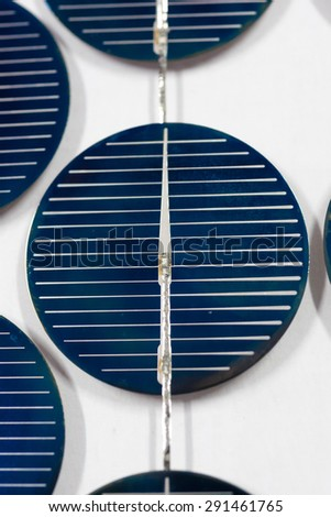 Abstract image of blue solar panels detail, to produce electricity from the sun - stock photo