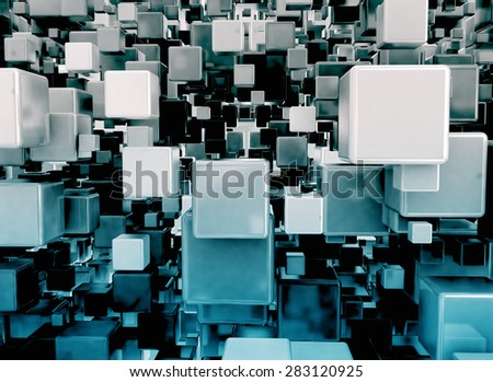 Abstract image of 3d cubes background - stock photo