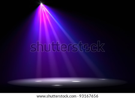 Abstract image of disco lights - stock photo