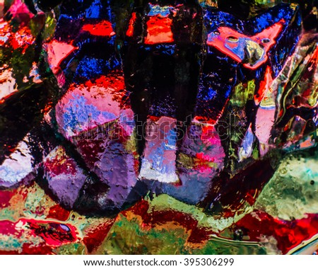 Abstract image of glass, light and color - stock photo