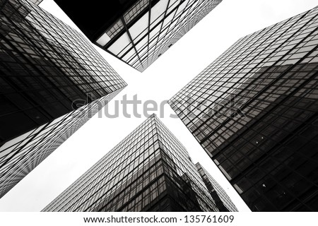 Abstract image of office building - stock photo