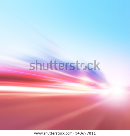 Abstract image of speed motion on the road.