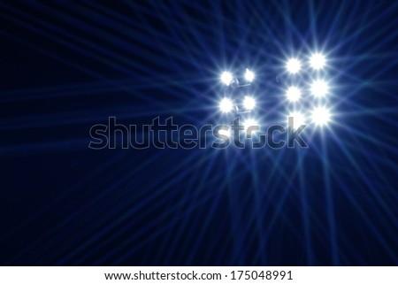 Abstract image of stadium lights - stock photo
