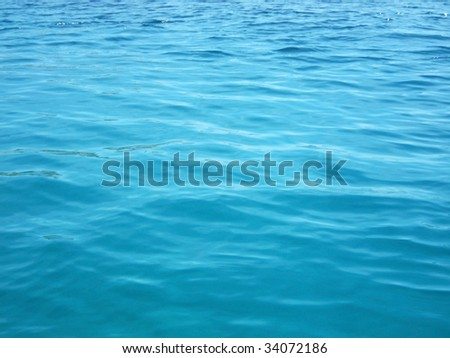 abstract image of the mediterranean sea with lovely blue colors - stock photo
