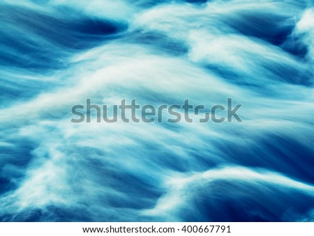 abstract image - rapids on the river closeup, vintage effect photo - stock photo