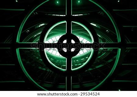 Abstract image representing eye of eternity. - stock photo