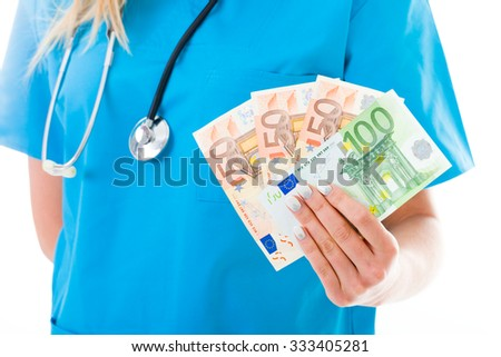 Abstract image representing medical expenses. - stock photo