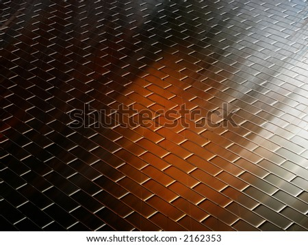 Abstract image resembling wood flooring for backgrounds or wallpaper. - stock photo